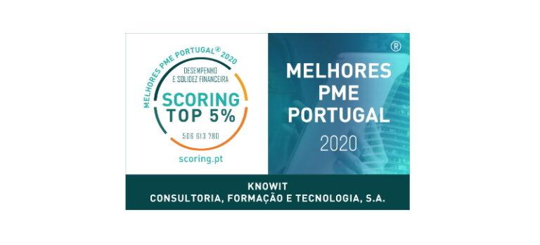 Knowit distinguida com a Certificação TOP 5% MELHORES PME 2020
